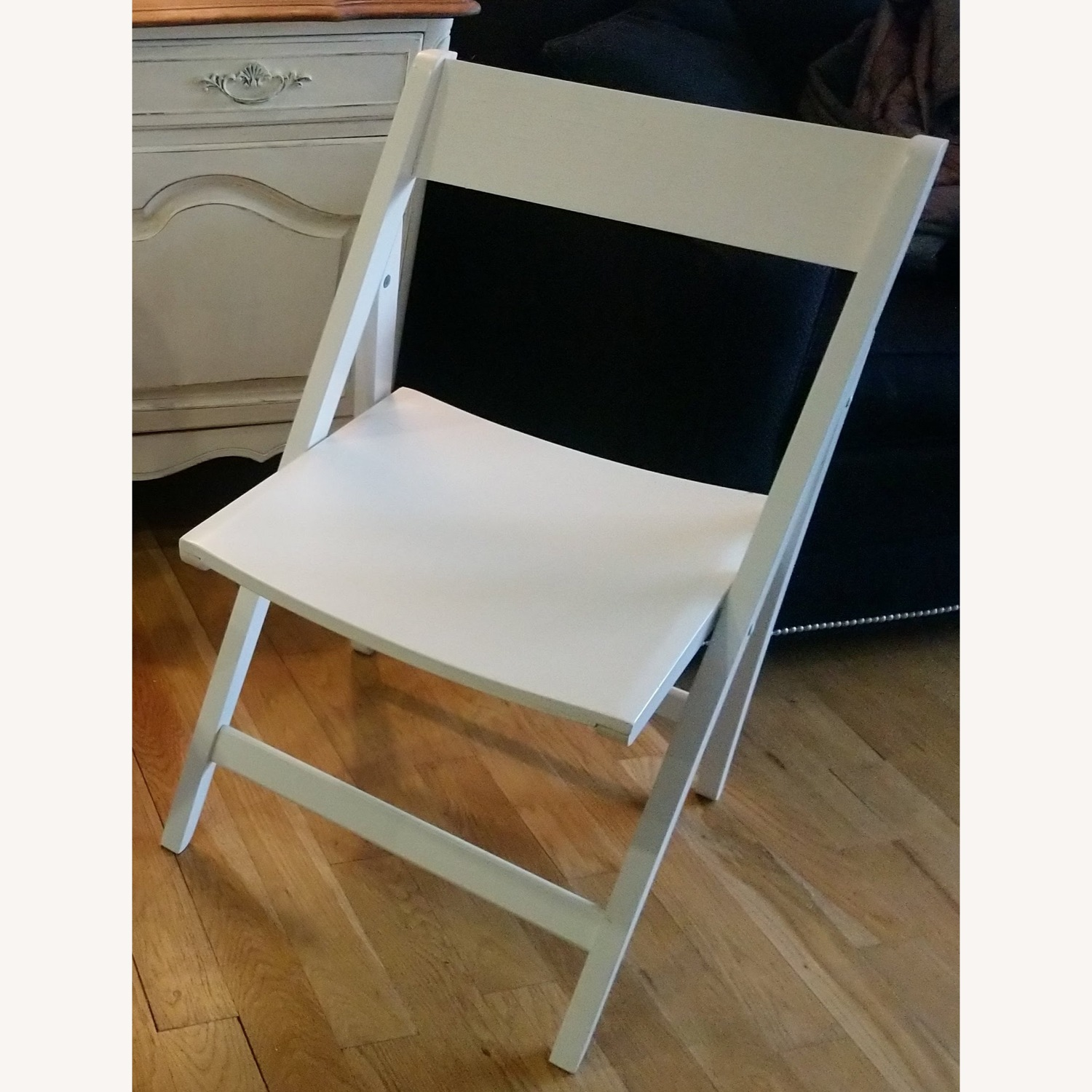 Two Rarely Used Folding Wooden Chairs - image-1