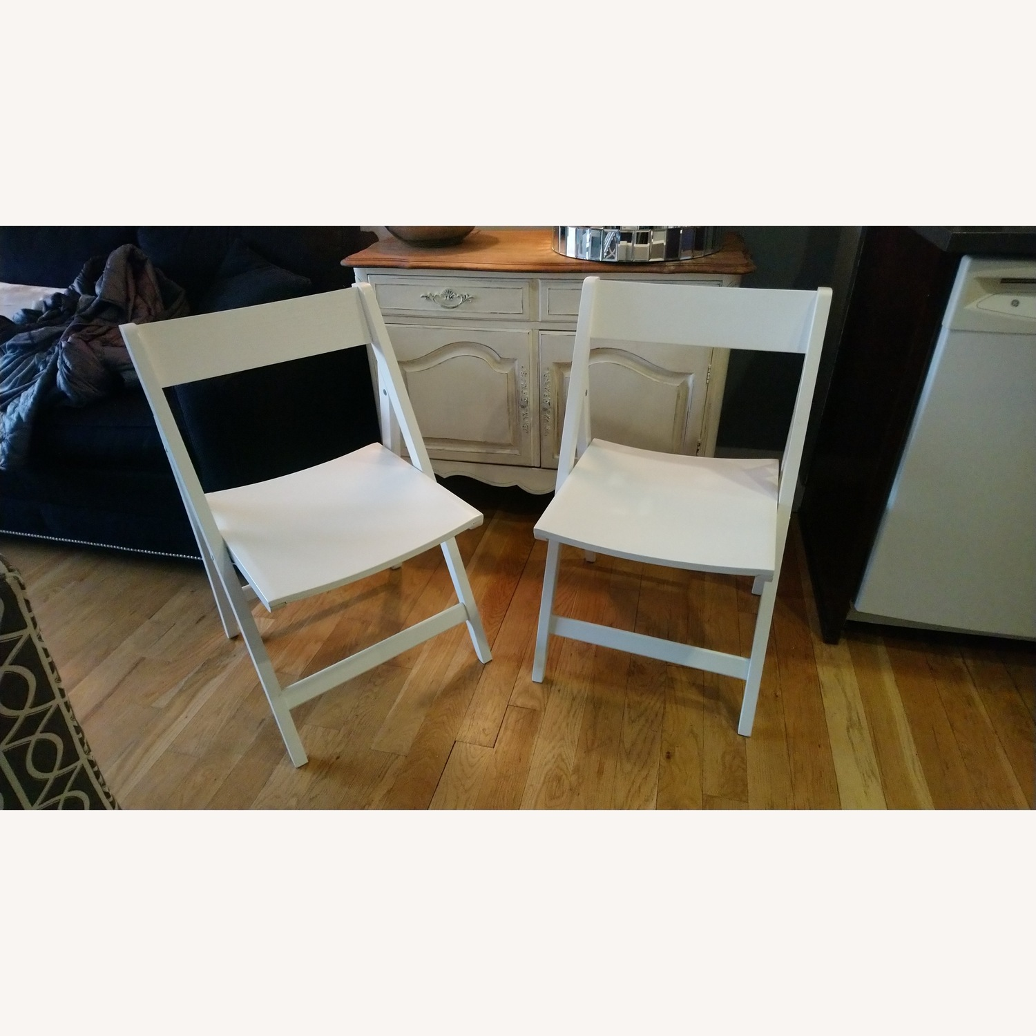 Two Rarely Used Folding Wooden Chairs - image-2