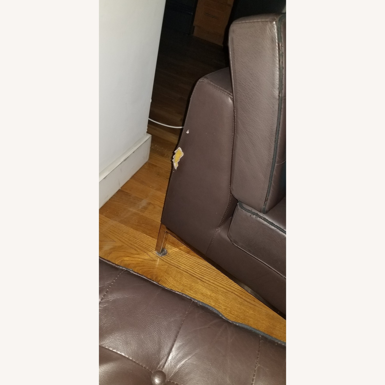 Dark Brown 2-Piece Sectional Sofa