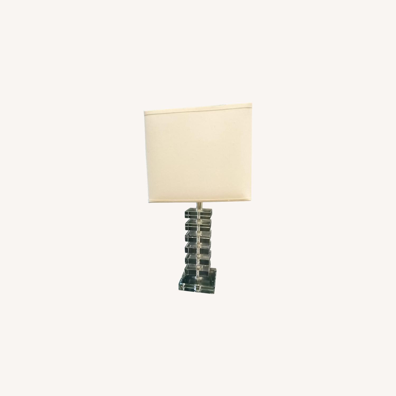 Fresh Glass Stacking Block Table Lamp - image-0