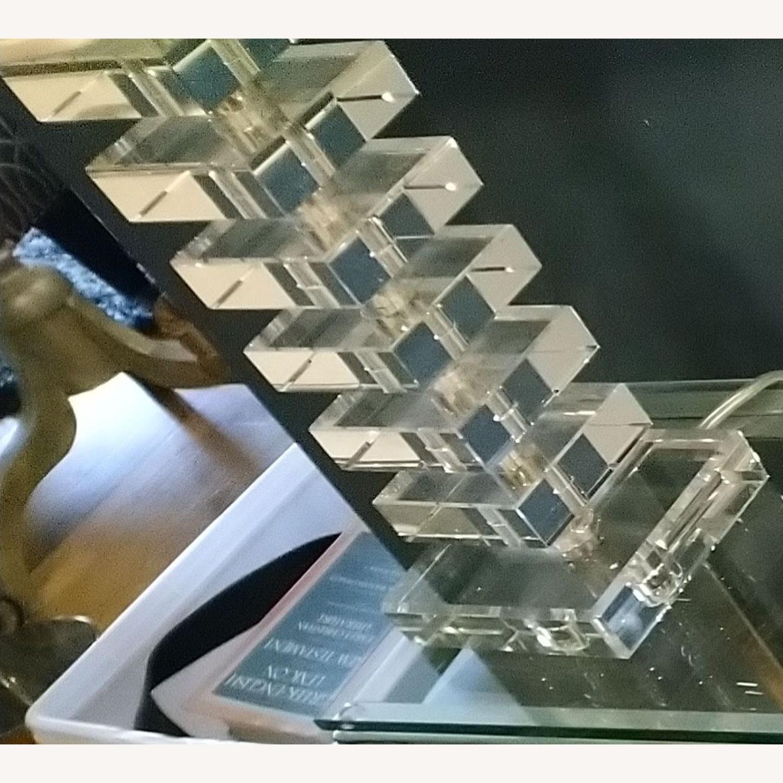 Fresh Glass Stacking Block Table Lamp - image-2