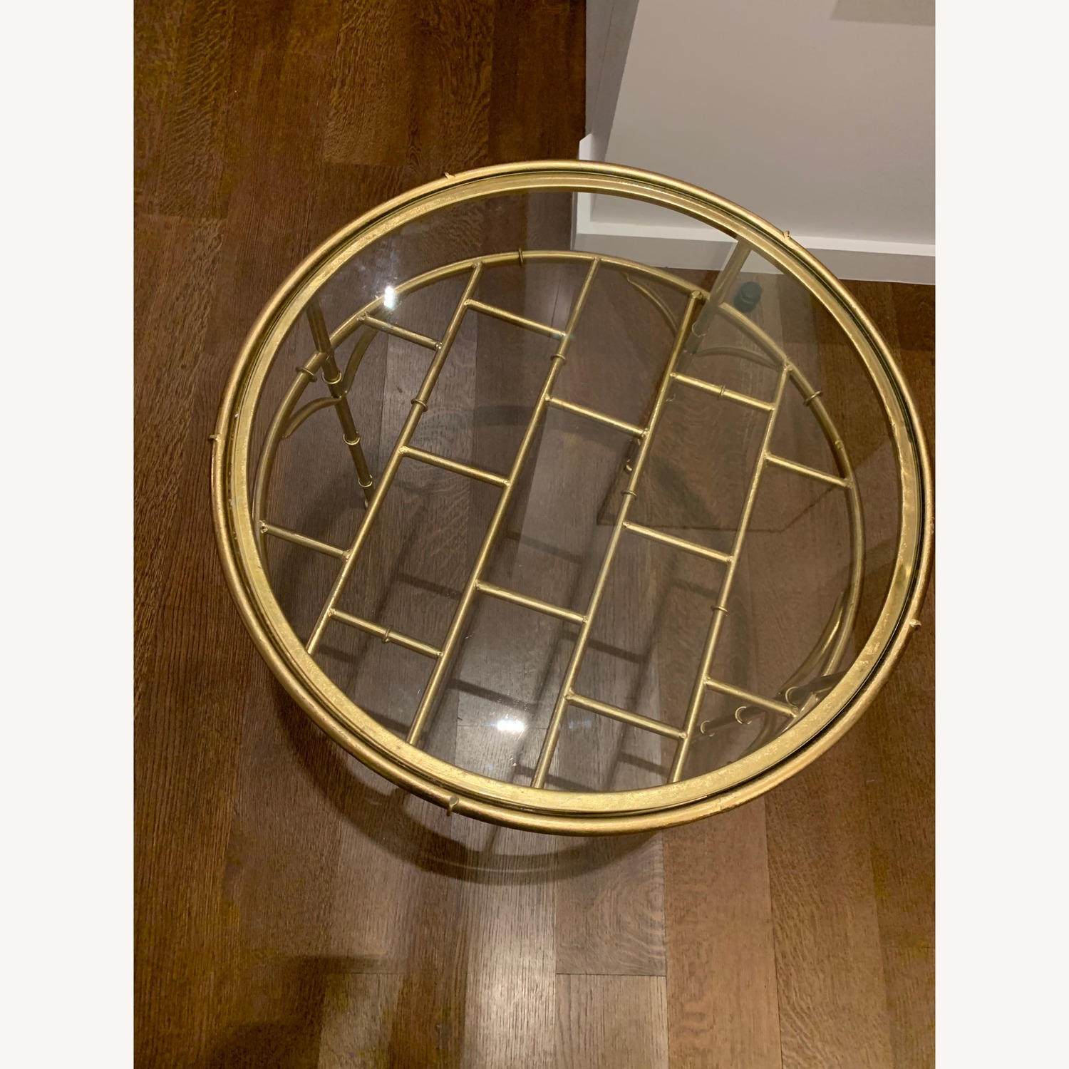 Small Gold/Glass Coffee Table - image-3