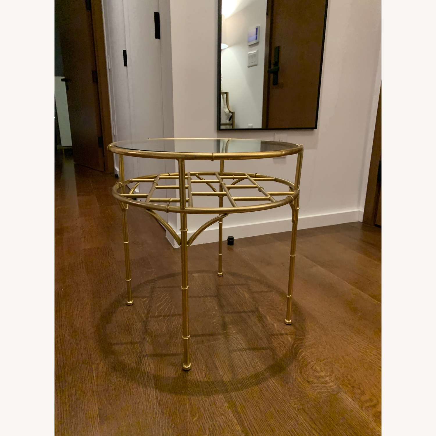 Small Gold/Glass Coffee Table - image-1