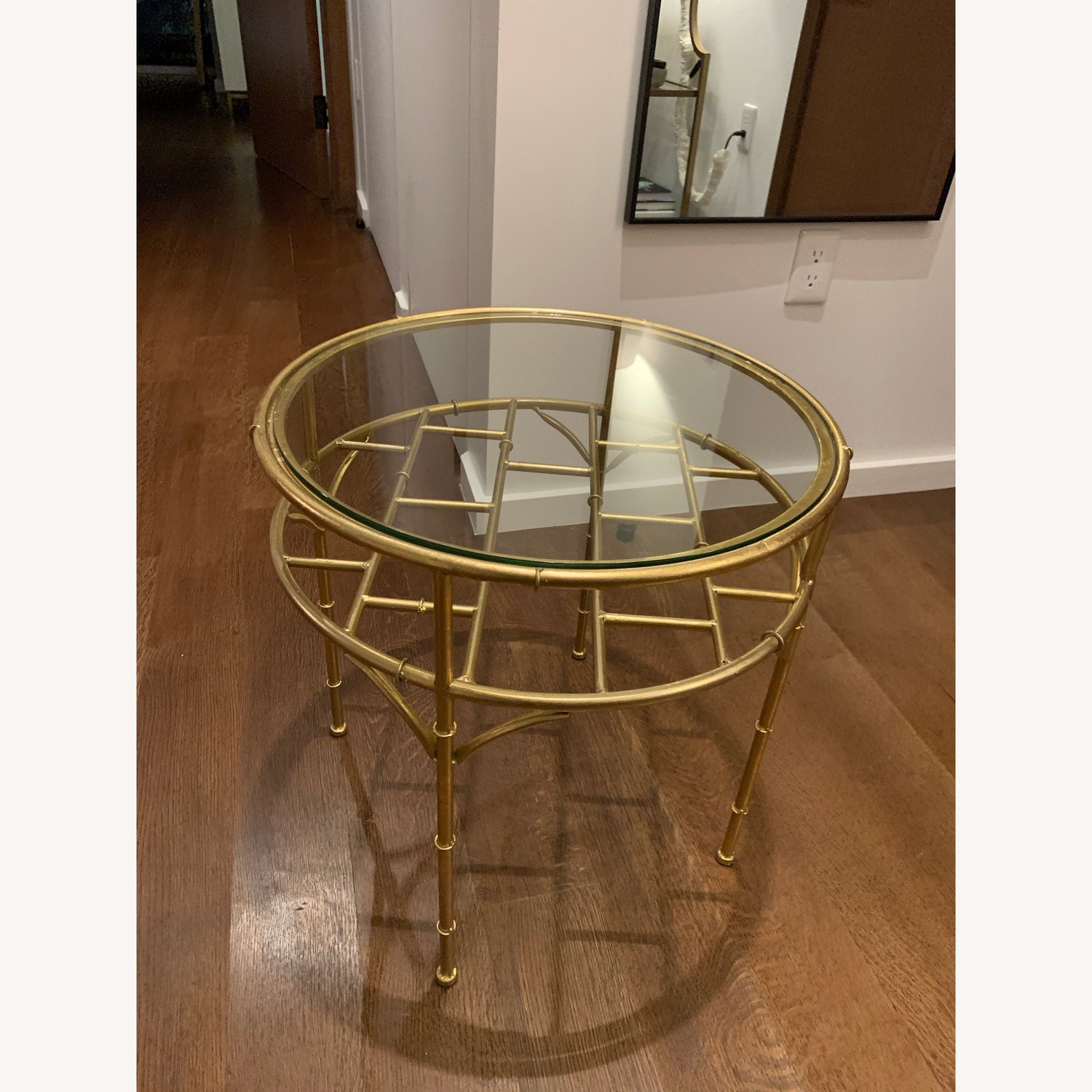 Small Gold/Glass Coffee Table - image-2