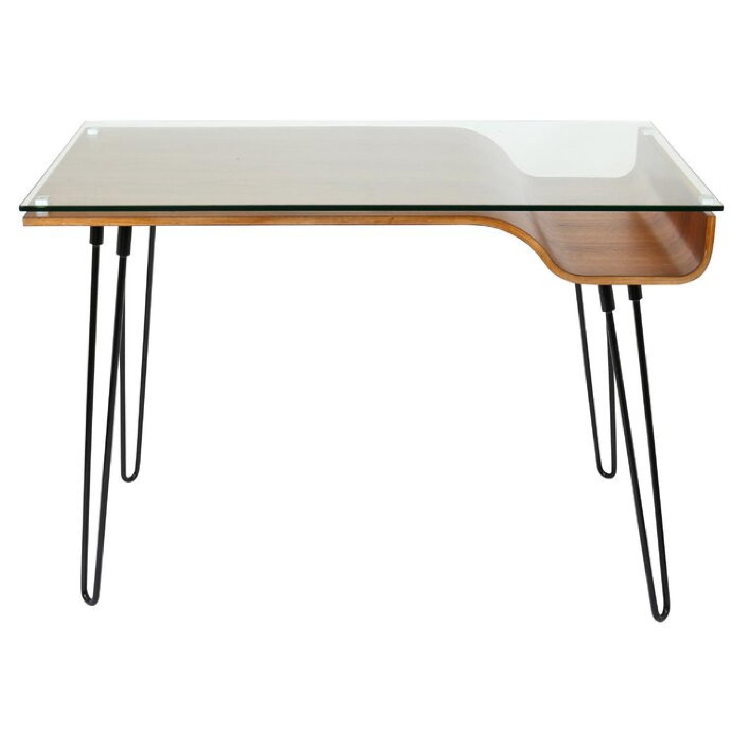 Sleek Wood & Glass Desk - image-0