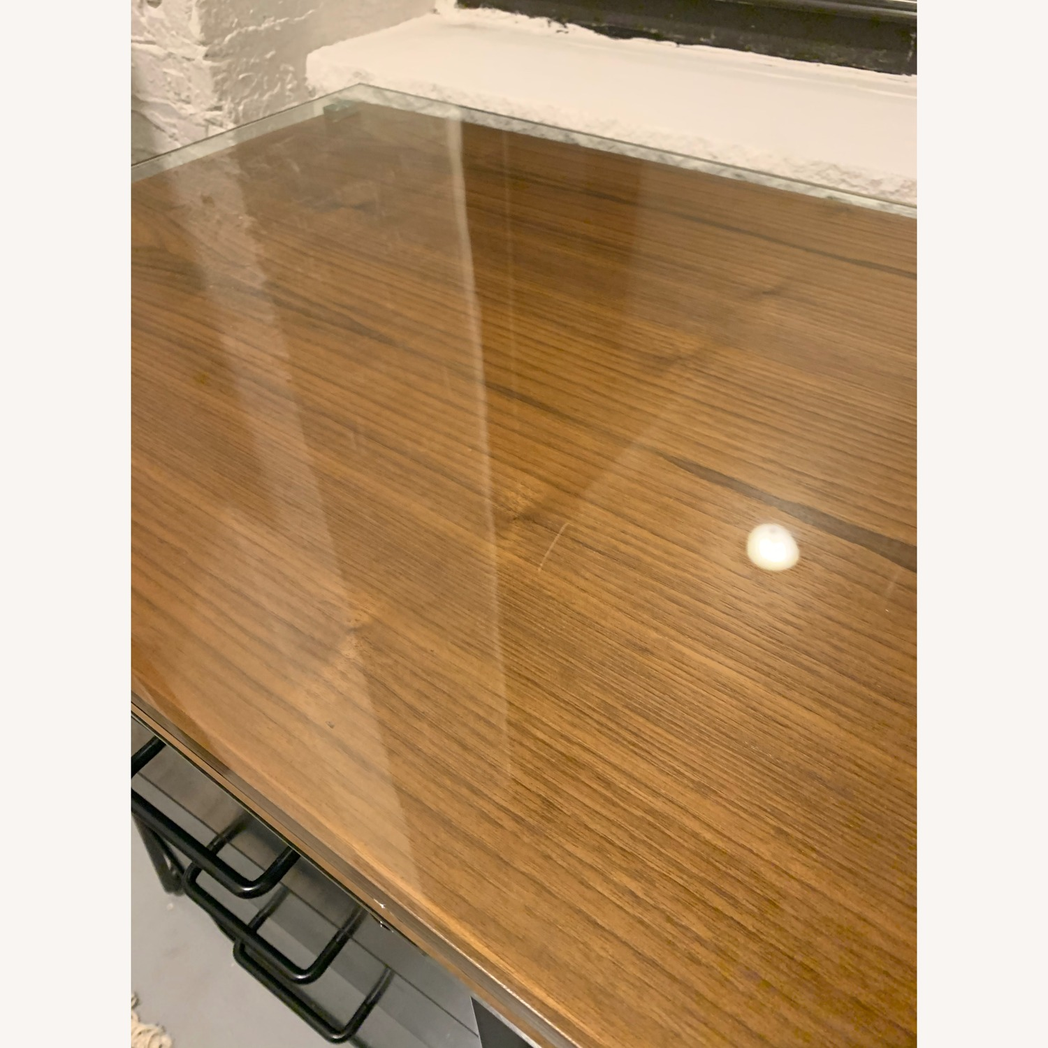 Sleek Wood & Glass Desk - image-4