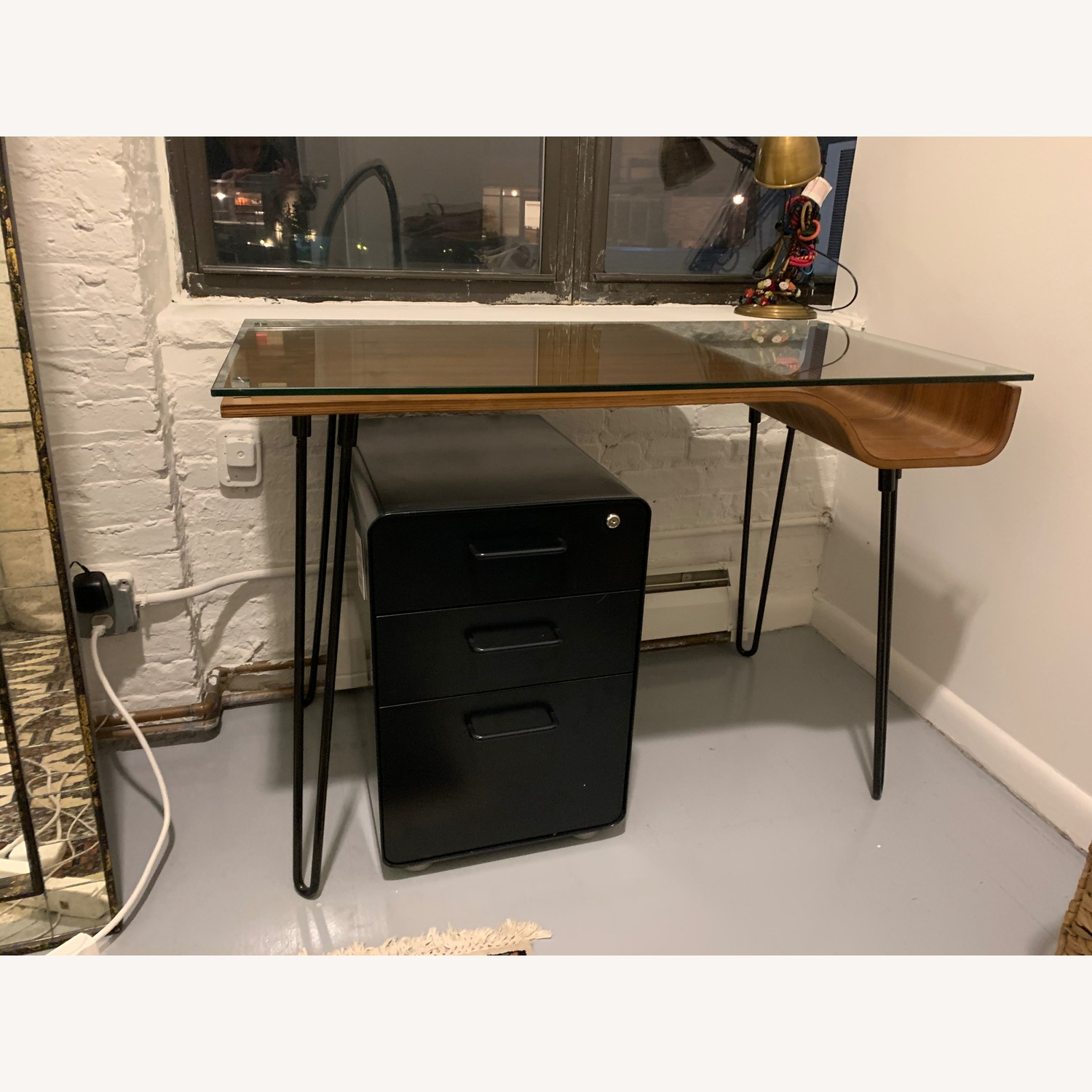 Sleek Wood & Glass Desk - image-1