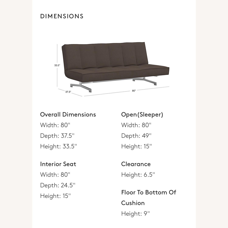 CB2 Space Grey Sleeper Sofa - image-6