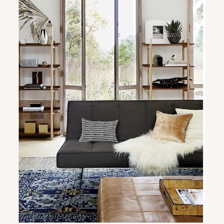 CB2 Space Grey Sleeper Sofa - image-4