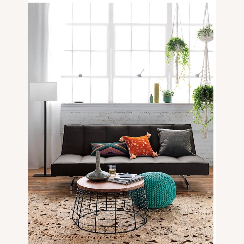 CB2 Space Grey Sleeper Sofa - image-5