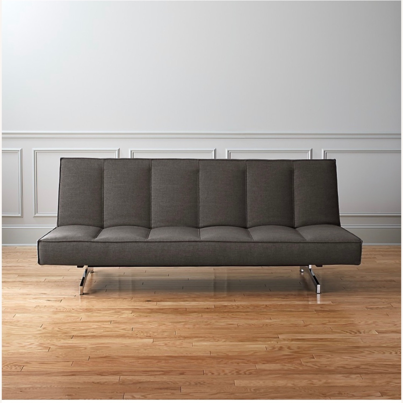 CB2 Space Grey Sleeper Sofa - image-3