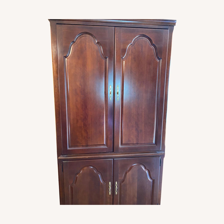 Cherry wood armoire - image-0