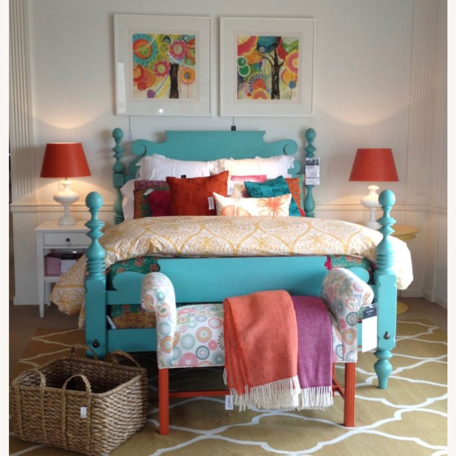 Ethan Allan Queen Size Bed - image-2