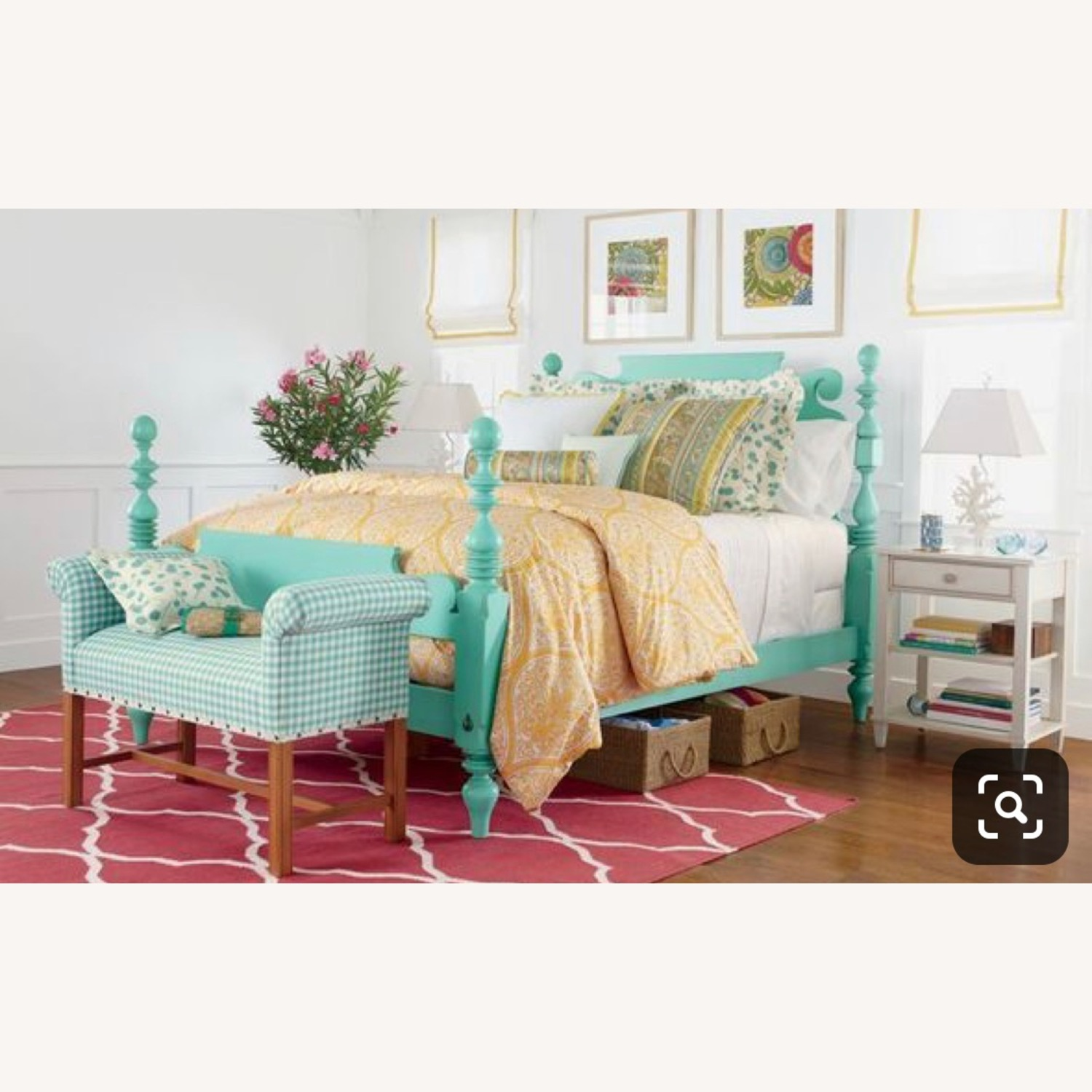 Ethan Allan Queen Size Bed - image-3