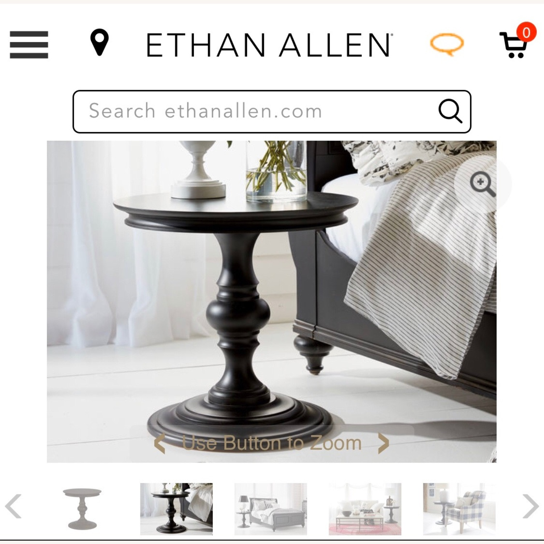 Ethan Allen Hot Pink Side Table - image-1