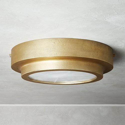 Used Nina Alabaster Flush Mount Light for sale on AptDeco
