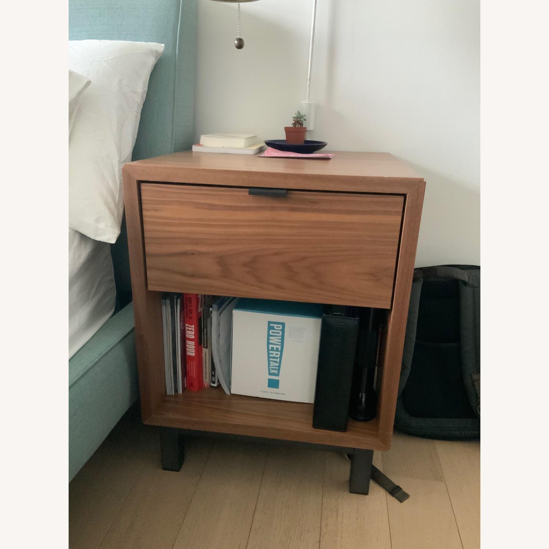 Walnut One-Drawer Nightstands - image-1