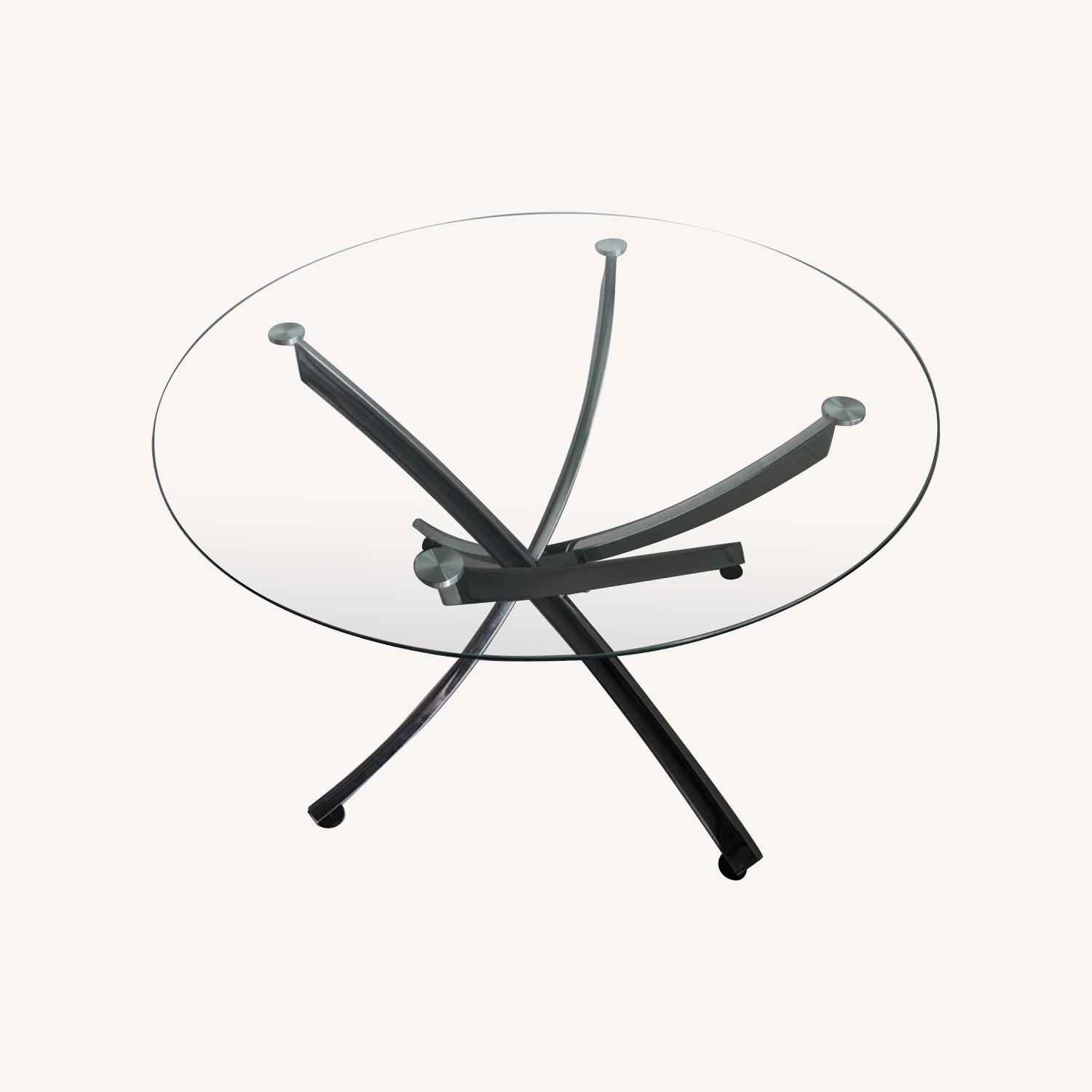 Modern Glass Dining Table Set - image-6