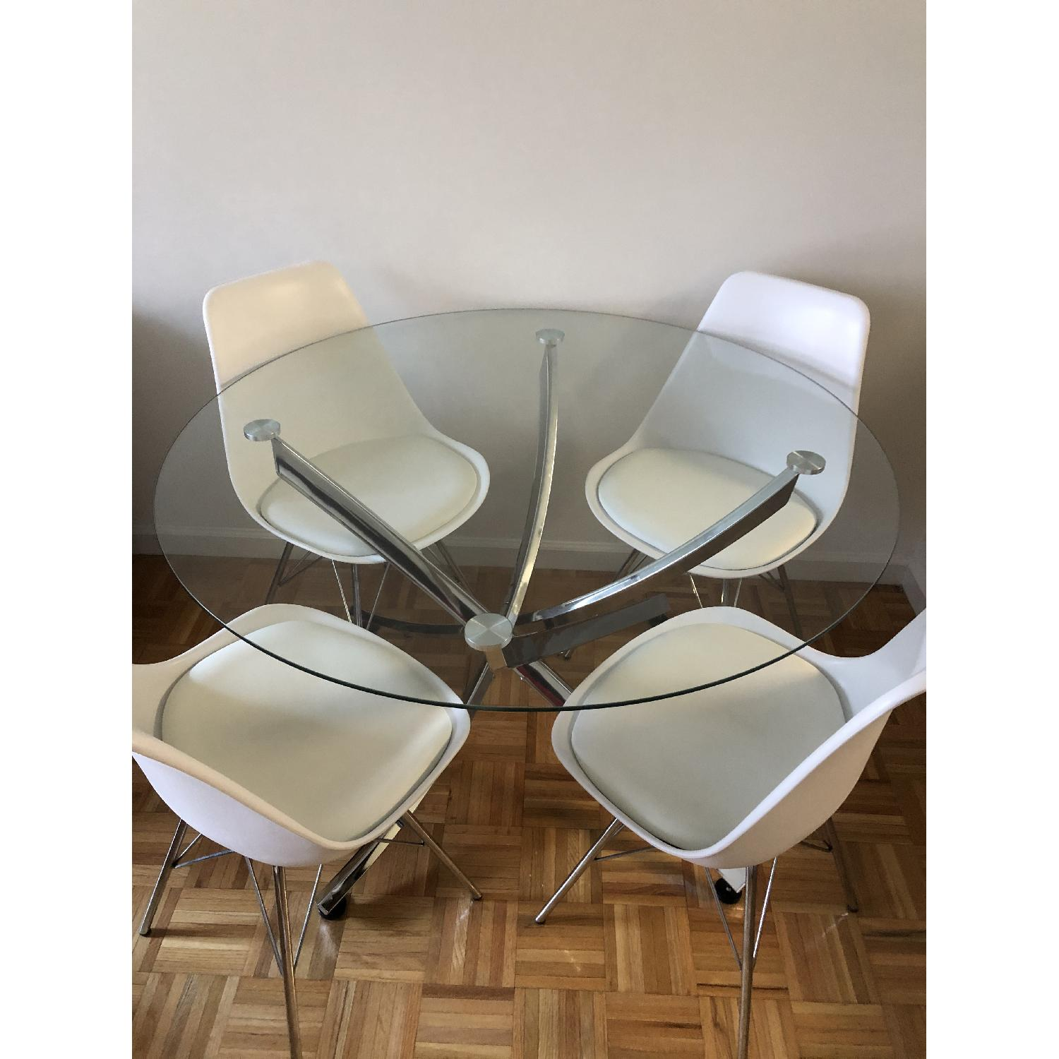 Modern Glass Dining Table Set - image-0