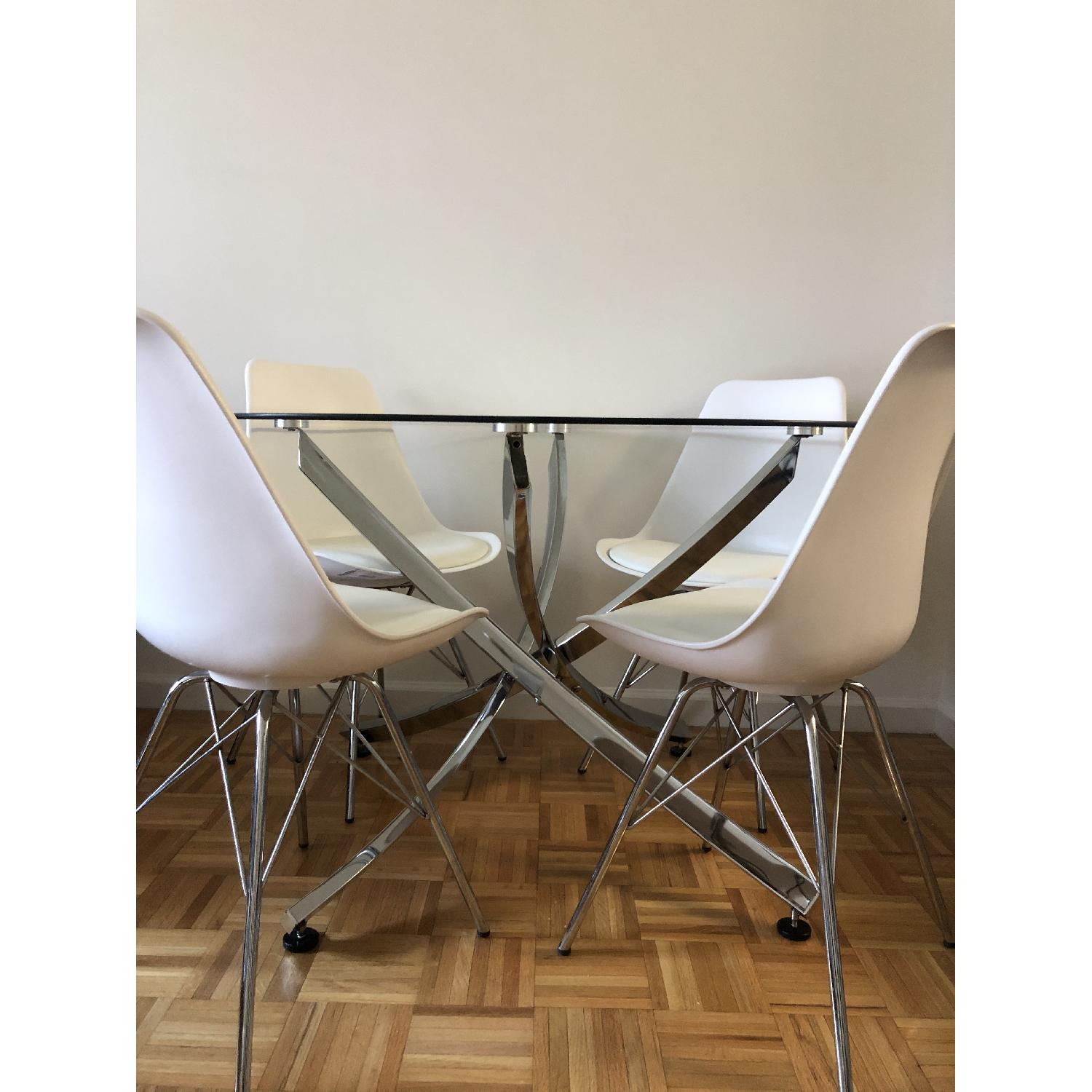 Modern Glass Dining Table Set - image-8