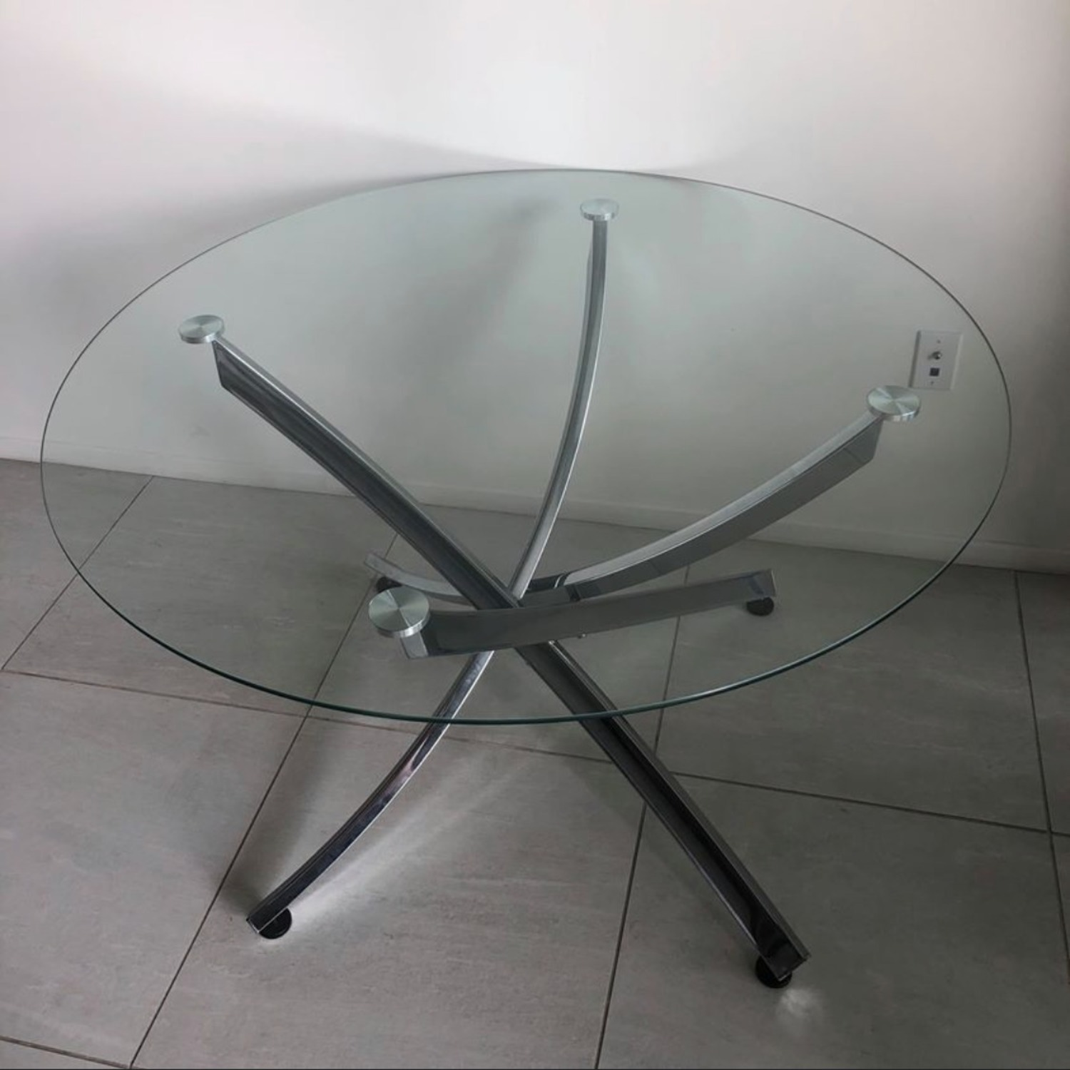 Modern Glass Dining Table Set - image-2