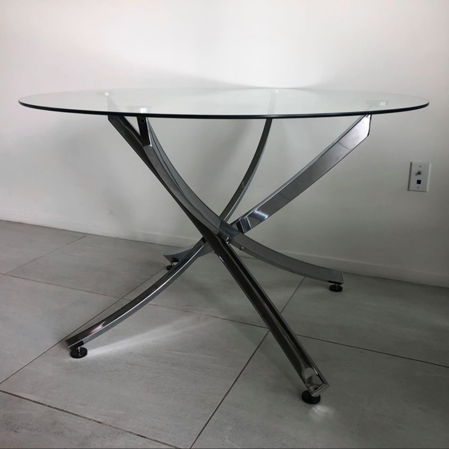 Modern Glass Dining Table Set - image-1