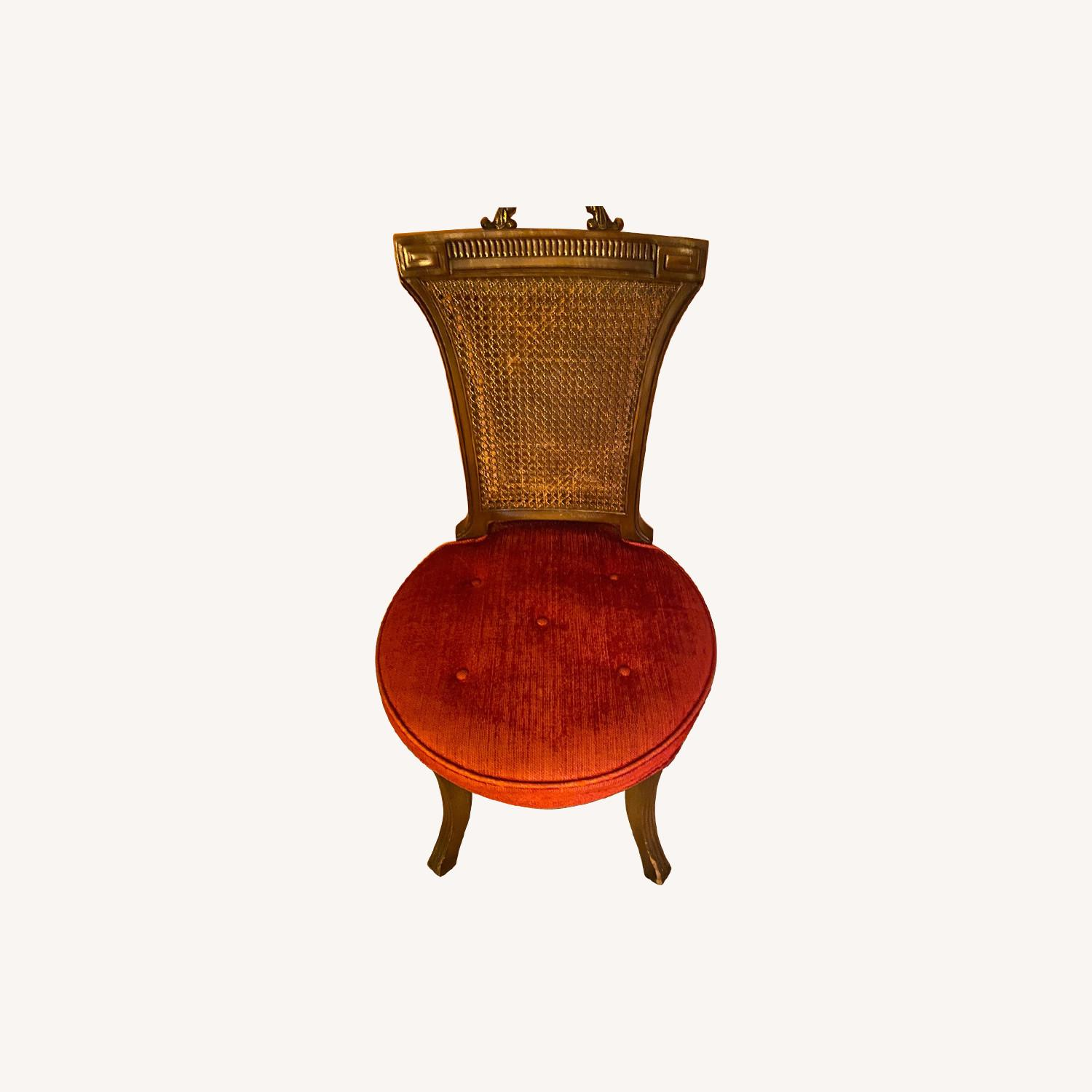 Antique side chair in red - image-0