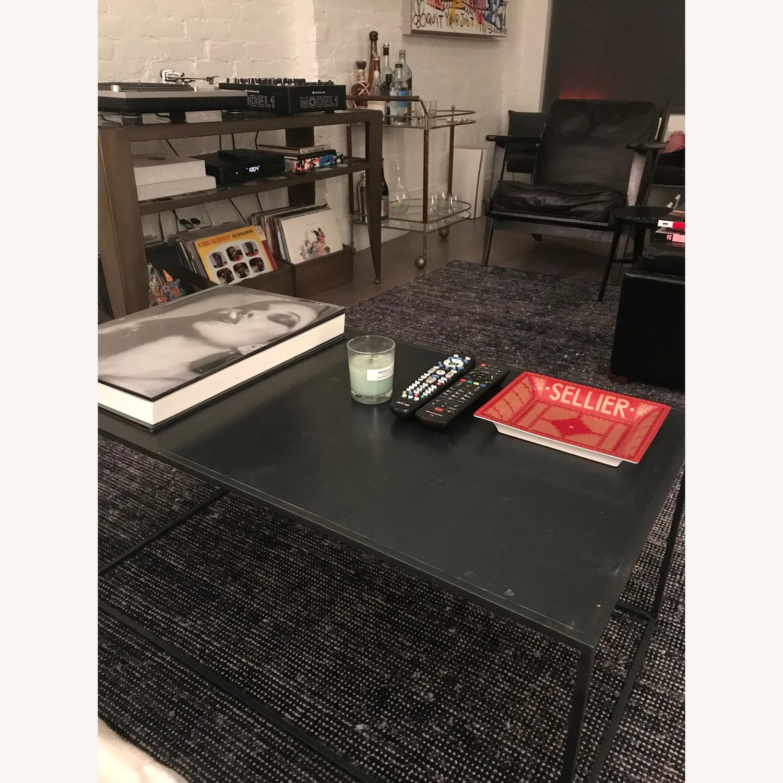 Abc Carpet Black Wrought Metal Coffee Table Aptdeco