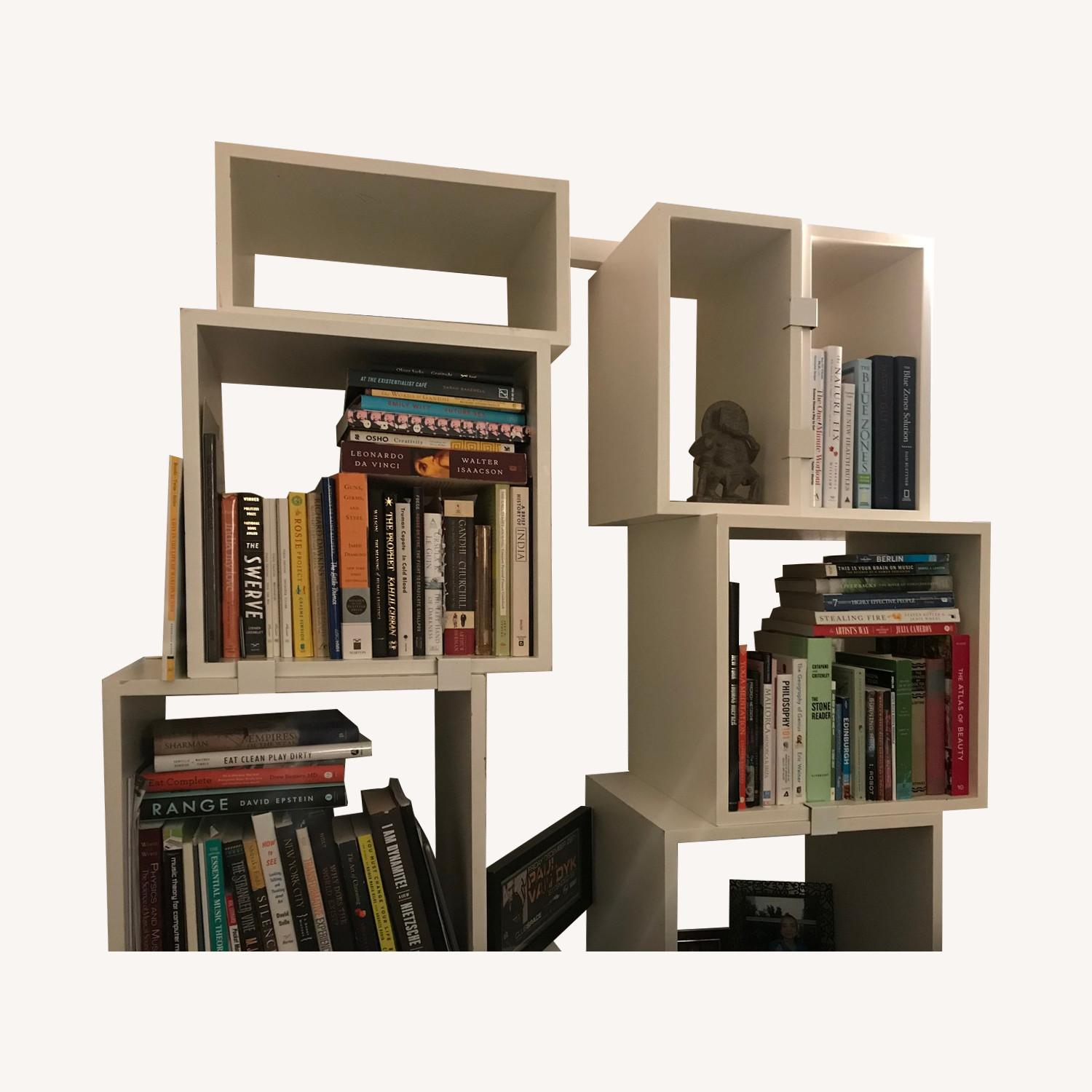 Design Within Reach White Modular Bookcase - image-0
