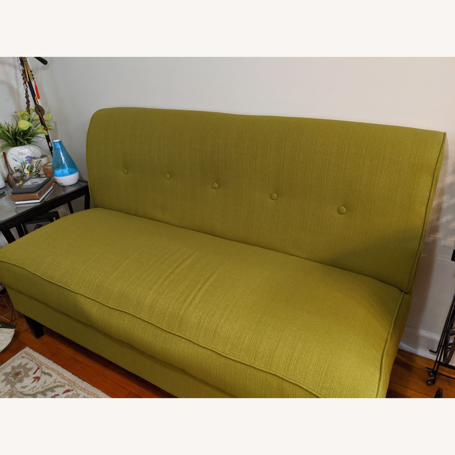 Porch & Den Pope Street Apple Green Armless Loveseat - image-2