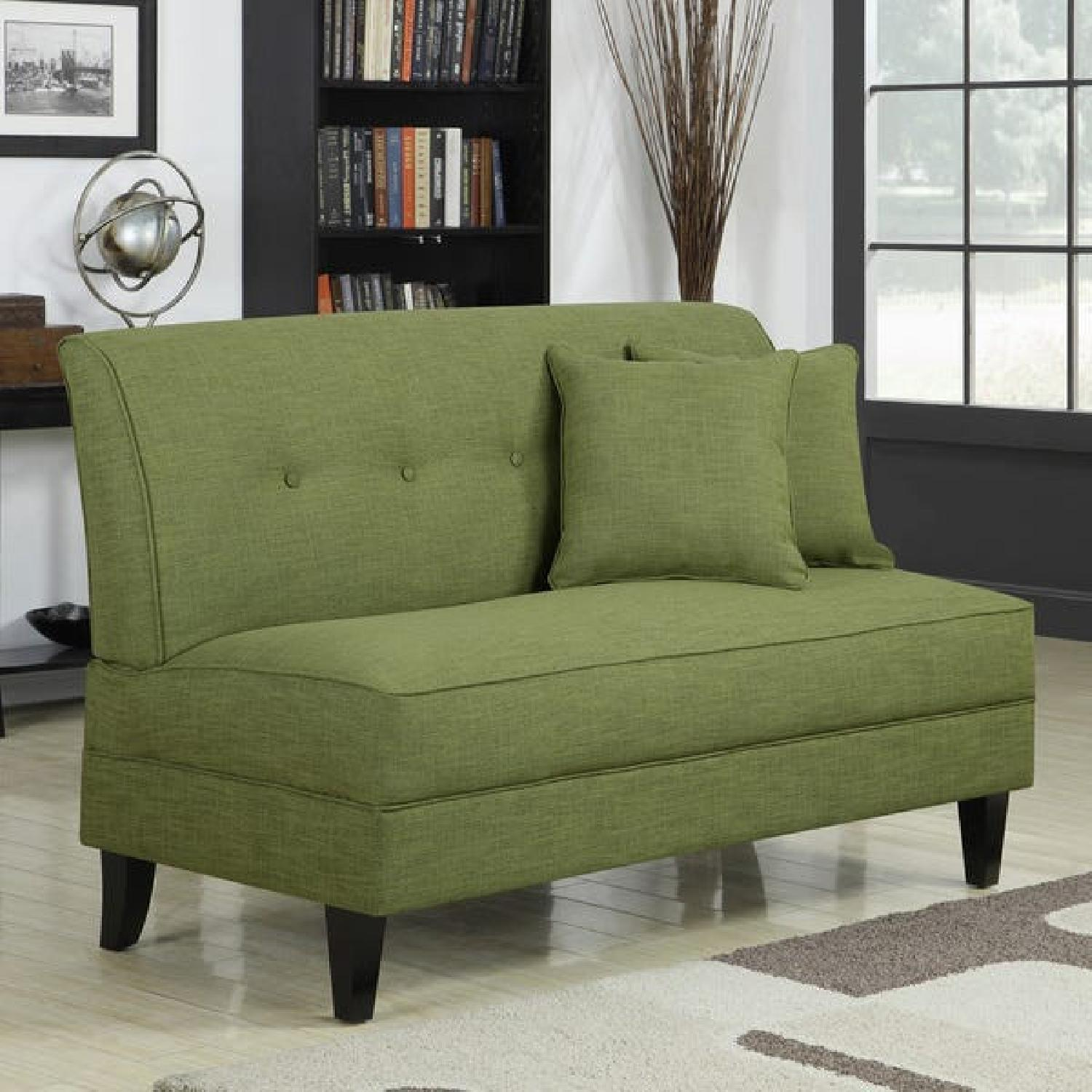 Porch & Den Pope Street Apple Green Armless Loveseat - image-4