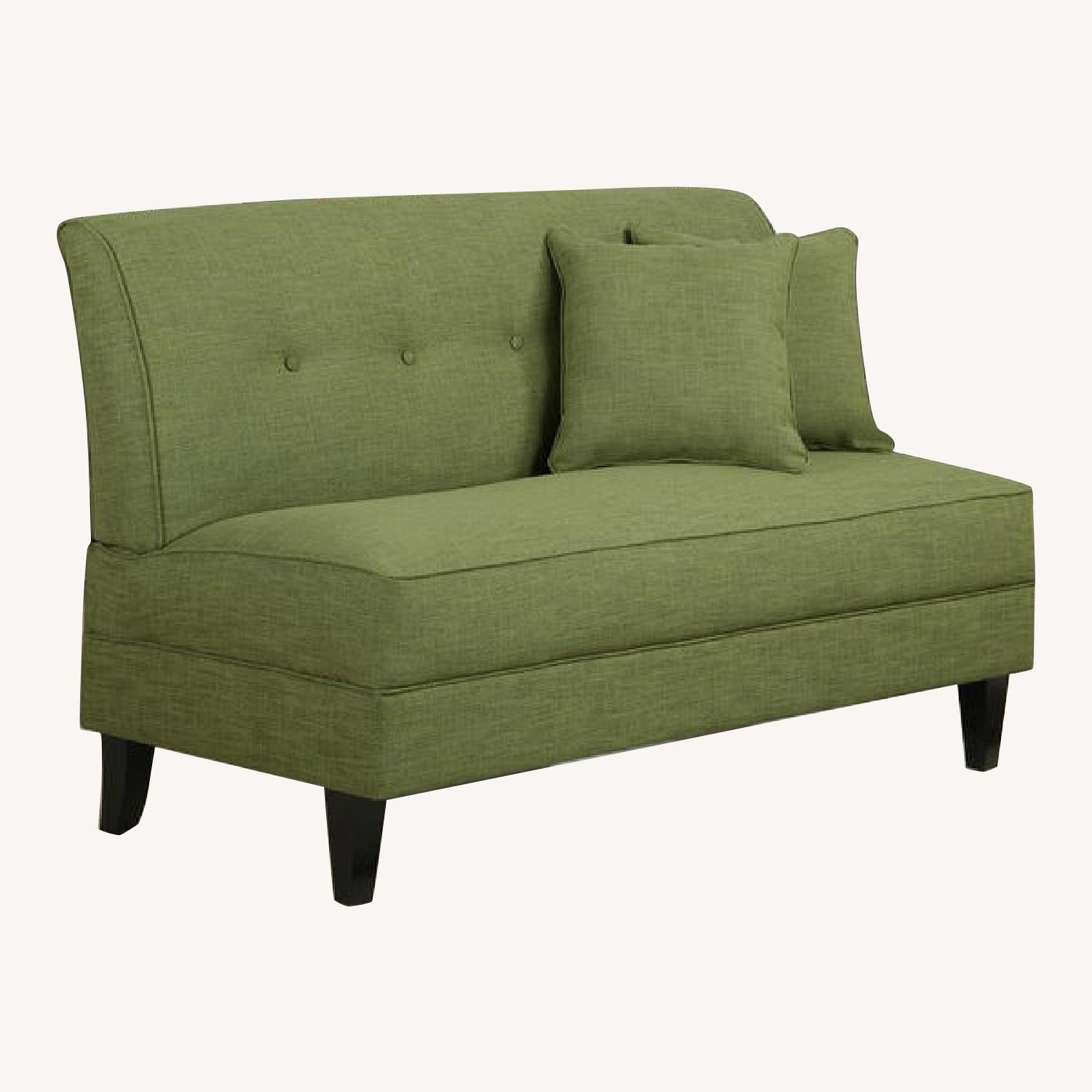 Porch & Den Pope Street Apple Green Armless Loveseat - image-0
