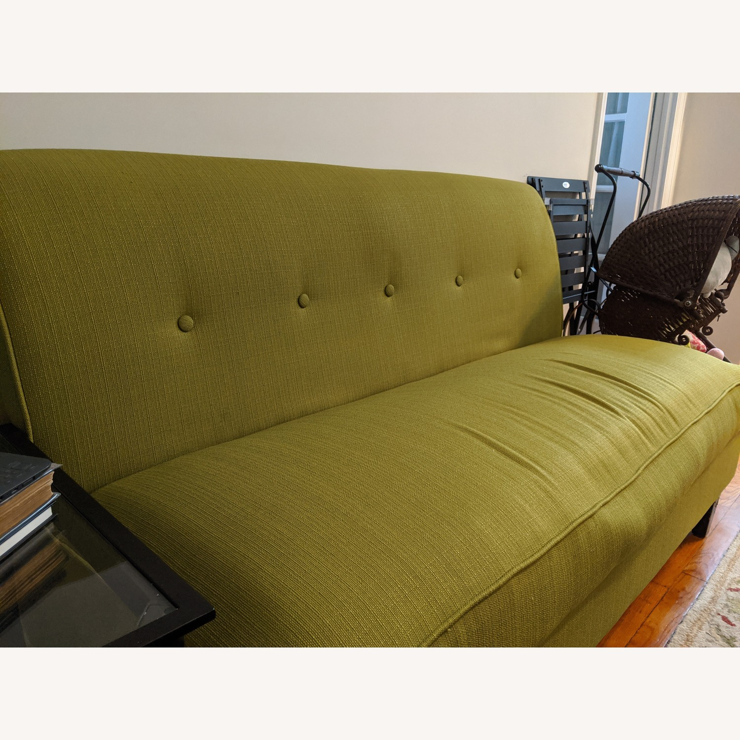 Porch & Den Pope Street Apple Green Armless Loveseat - image-3