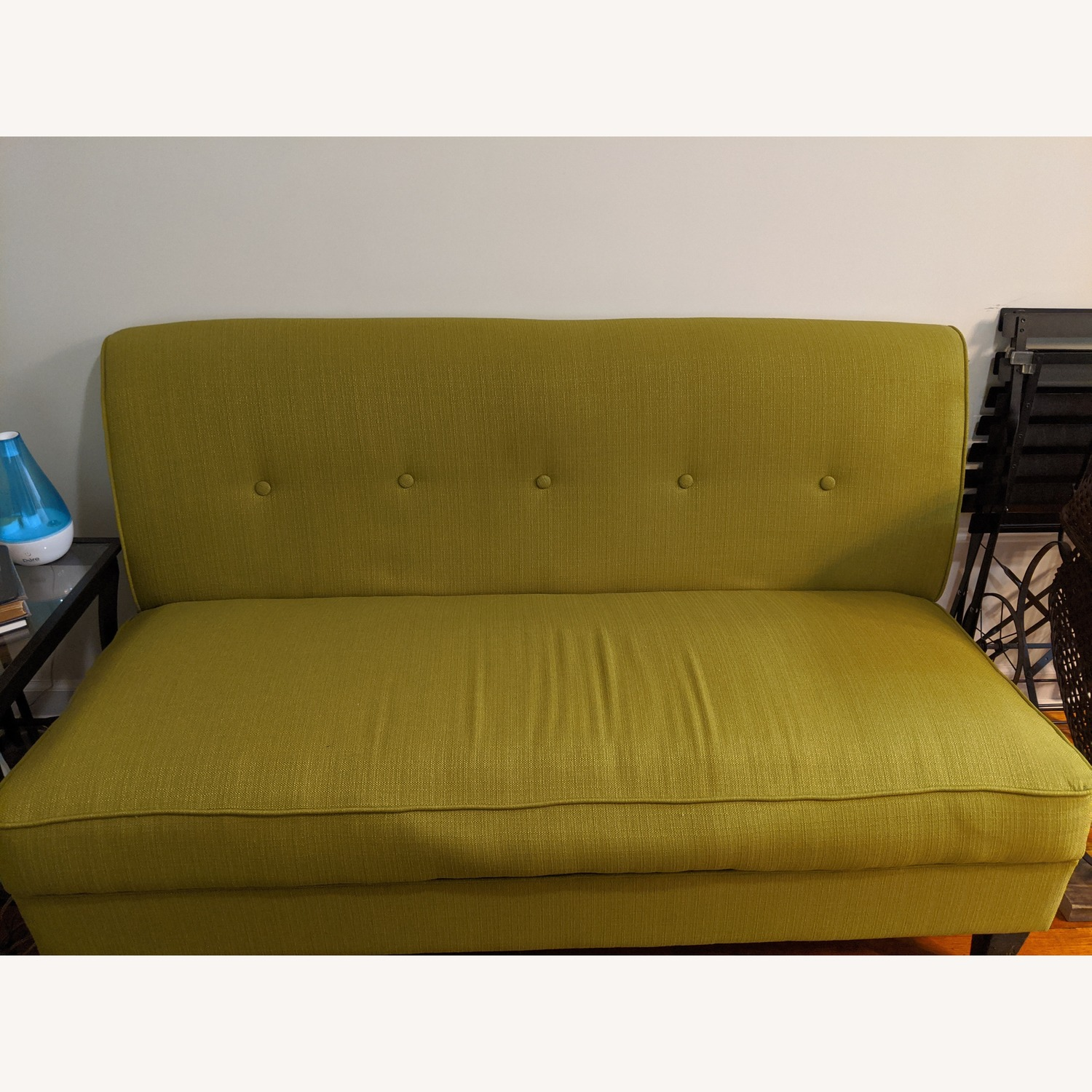Porch & Den Pope Street Apple Green Armless Loveseat - image-1