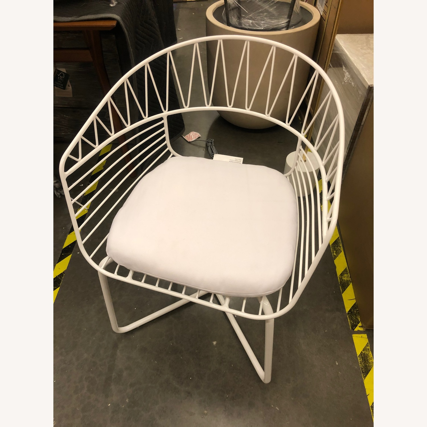 West Elm-Rayas Wire Dining Chair - image-1