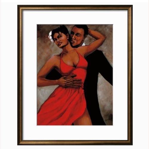 Used Framed art print Fantasy in Red by Monica Stewart for sale on AptDeco