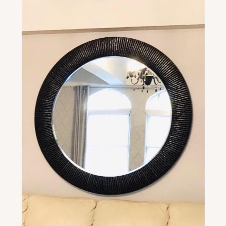 Z Gallerie Oversized Round Wall Mirror - Espresso - image-1