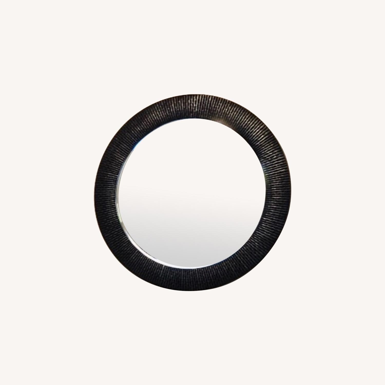 Z Gallerie Oversized Round Wall Mirror - Espresso - image-0
