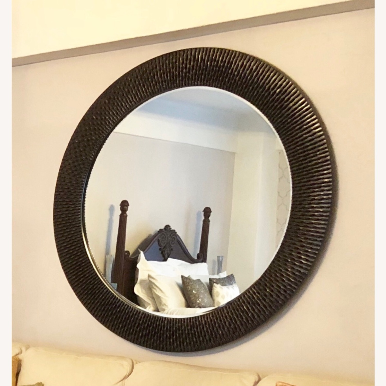 Z Gallerie Oversized Round Wall Mirror - Espresso - image-2