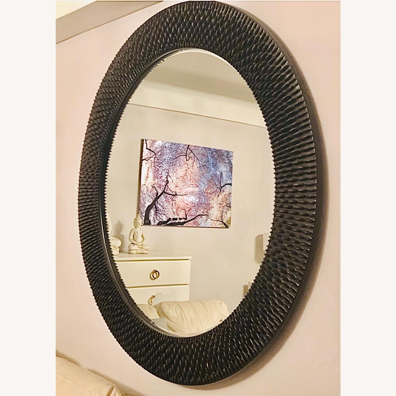 Z Gallerie Oversized Round Wall Mirror - Espresso - image-3