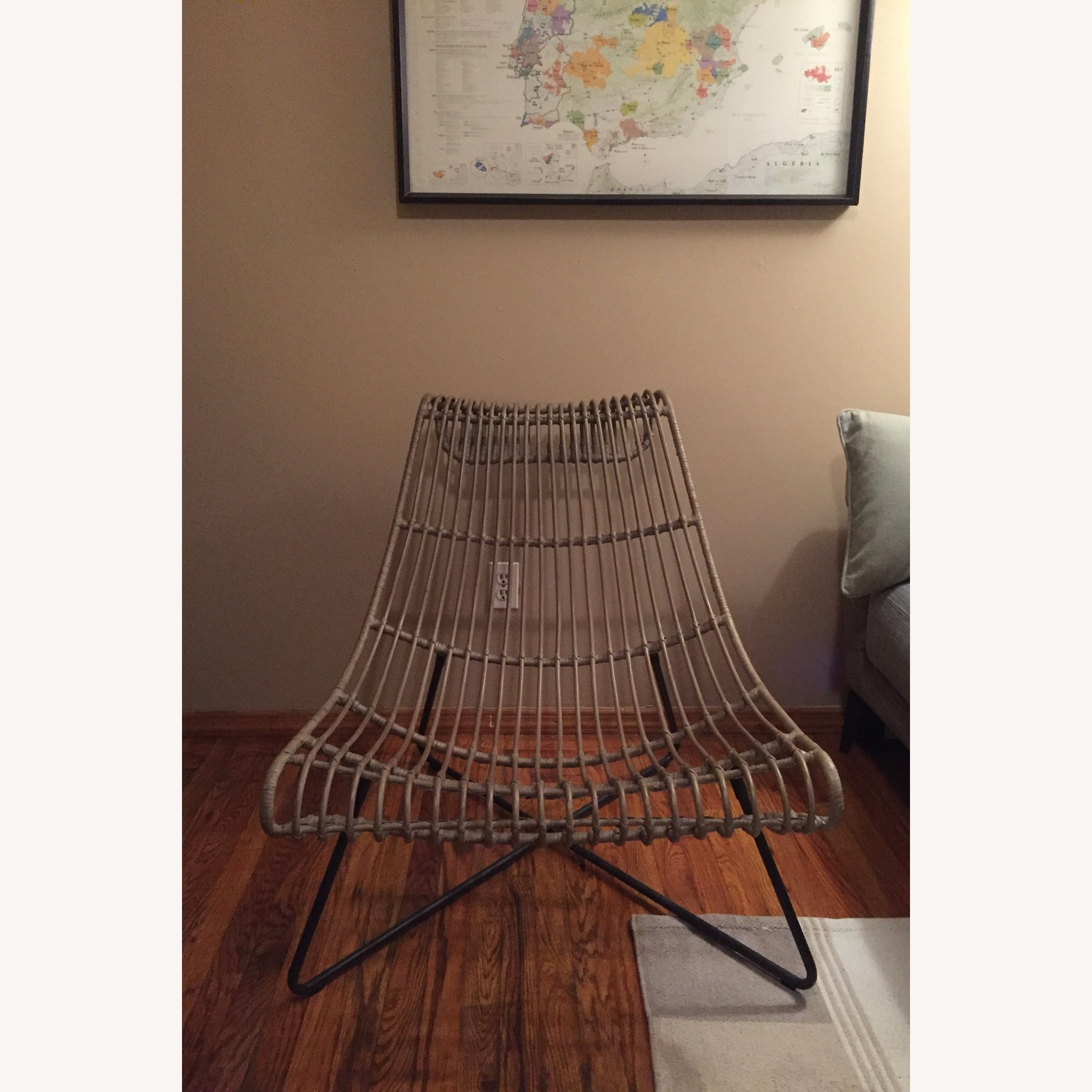 Grey/ Taupe Rattan Lounger Chair - image-2