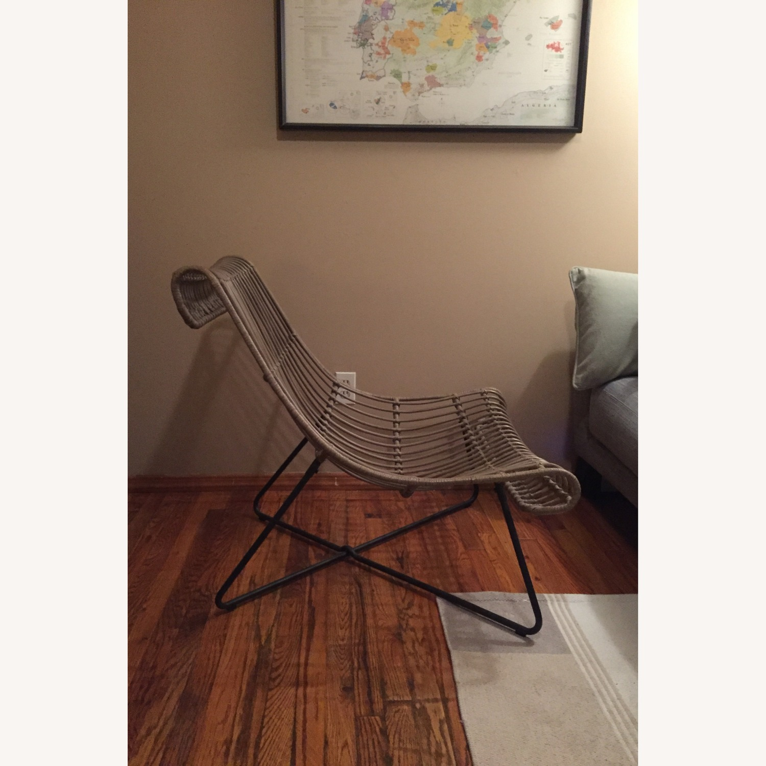 Grey/ Taupe Rattan Lounger Chair - image-3