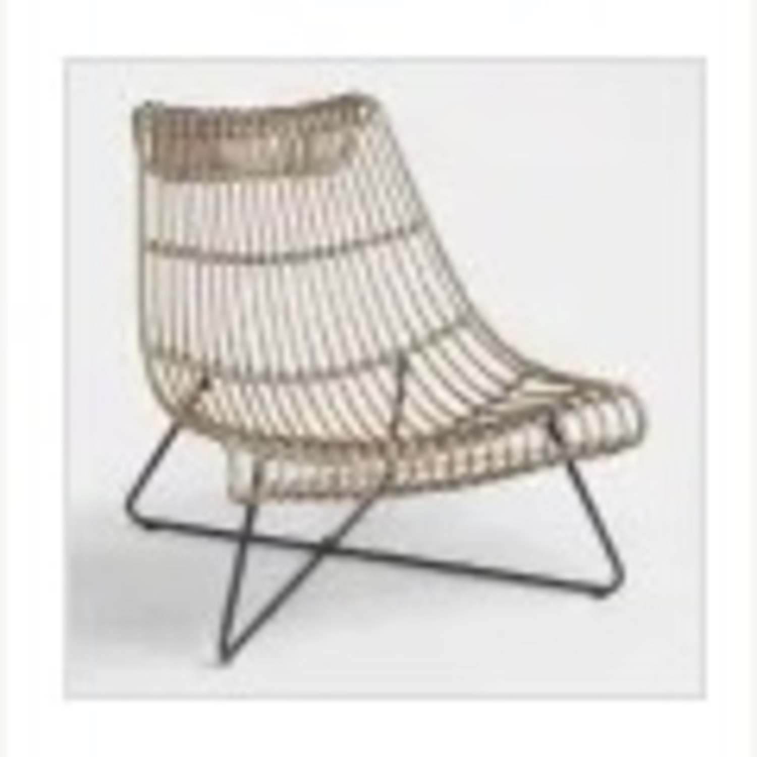 Grey/ Taupe Rattan Lounger Chair - image-4