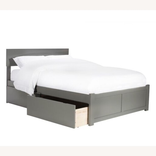 Used Full size bed in ESPRESSO wood w/drawers or trundle for sale on AptDeco