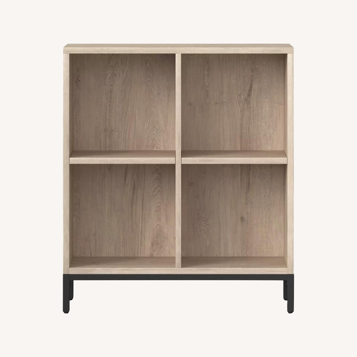 Project 62 4-Cube Bookcase in Vintage Oak - image-0