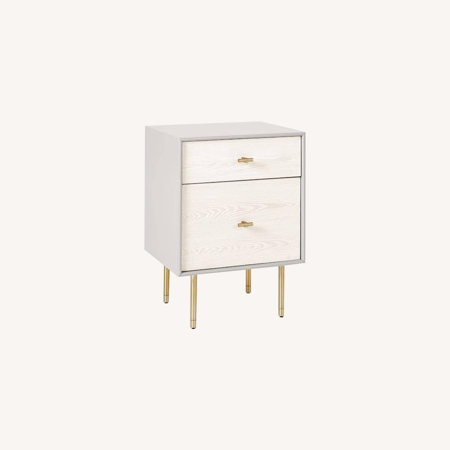 West Elm Modernist Wood & Lacquer Nightstand - image-0