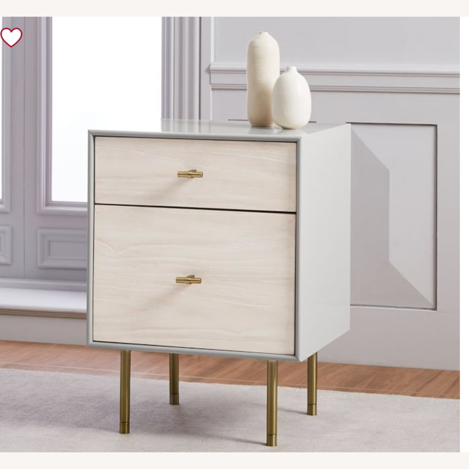 West Elm Modernist Wood & Lacquer Nightstand - image-3