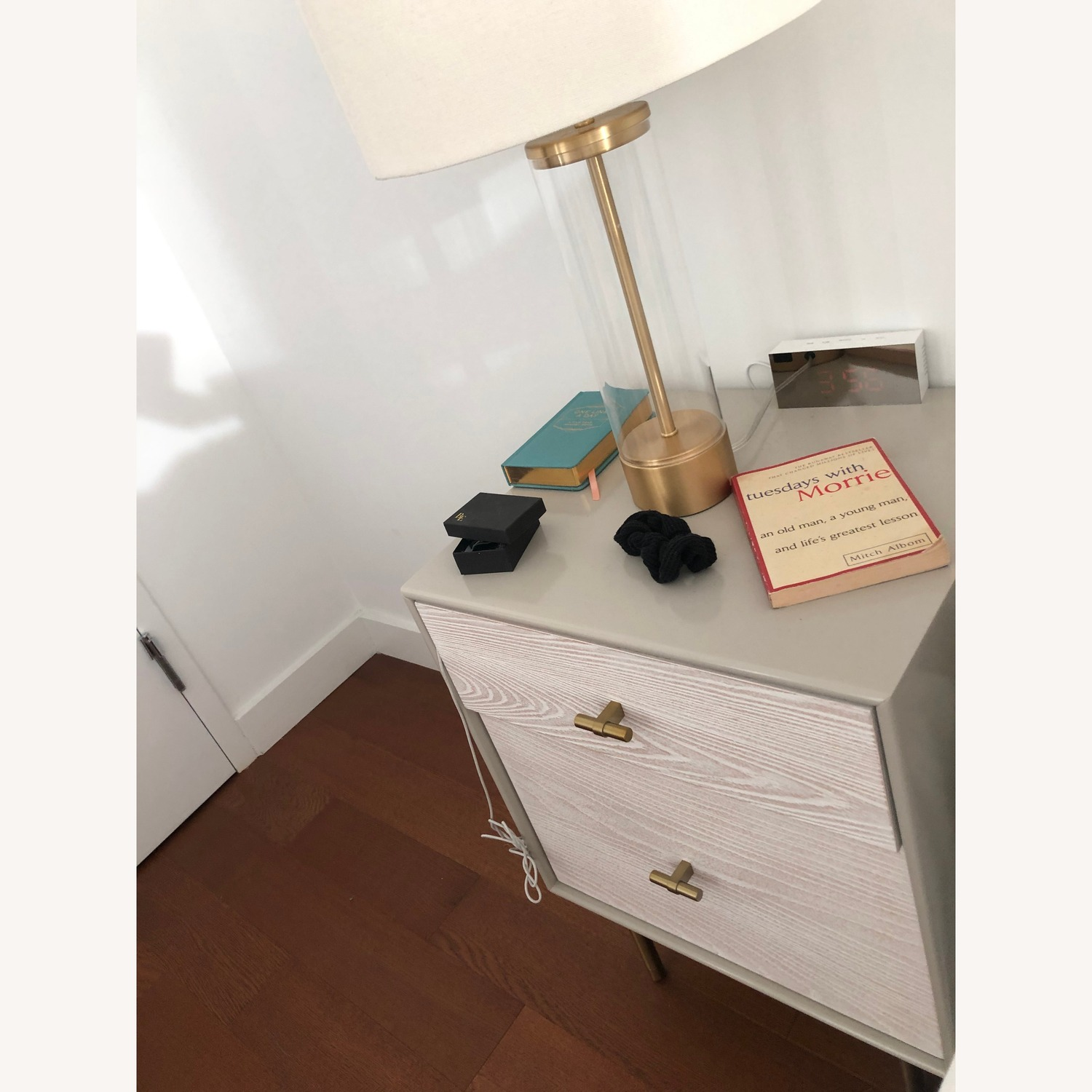 West Elm Modernist Wood & Lacquer Nightstand - image-1