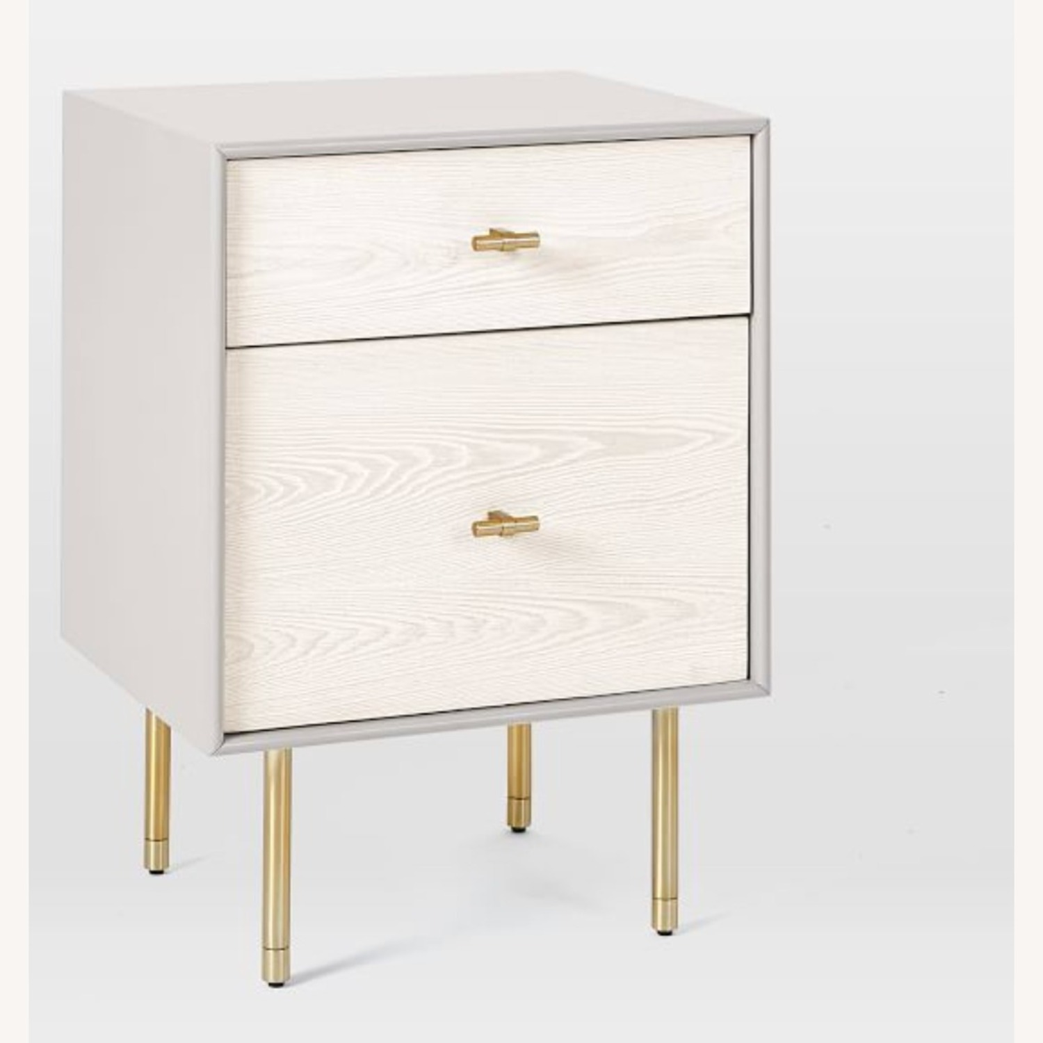 West Elm Modernist Wood & Lacquer Nightstand - image-2