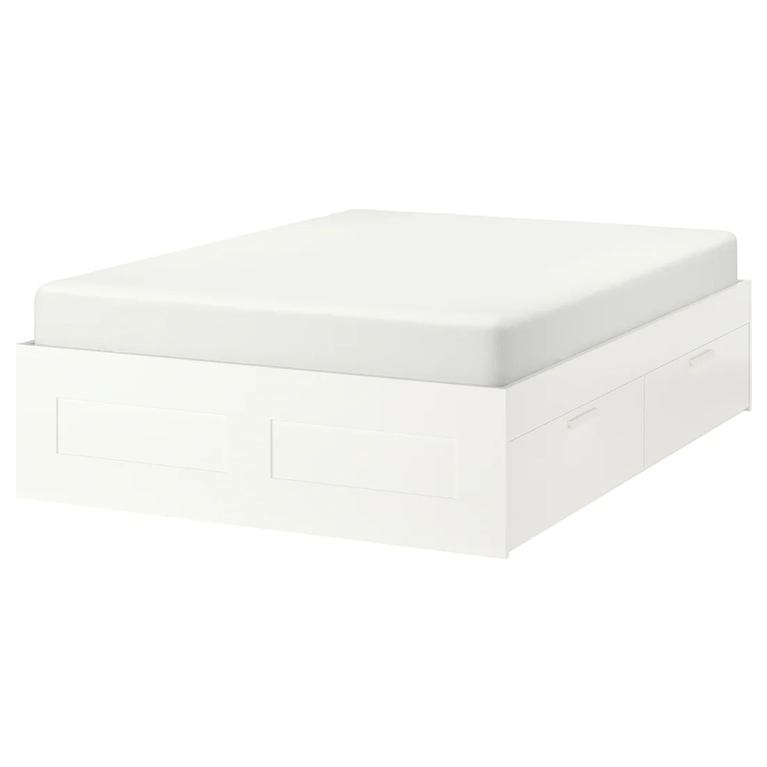 IKEA Brimnes Full Bed Frame with 4 Drawers - image-0
